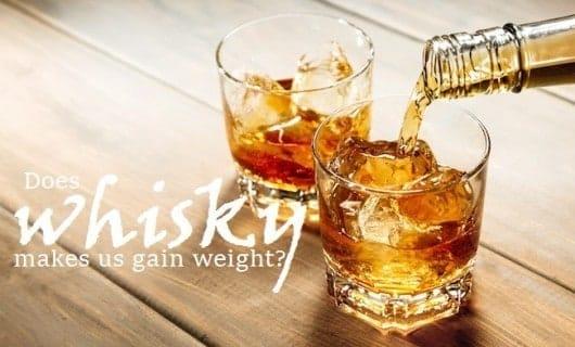 whisky y aumento de peso